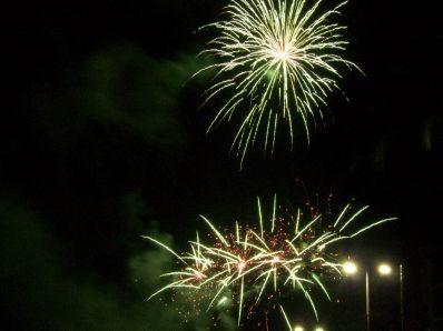 Focs artificials a Roses (Costa Brava)