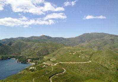 Vistes de la muntanya a Roses (Costa Brava)